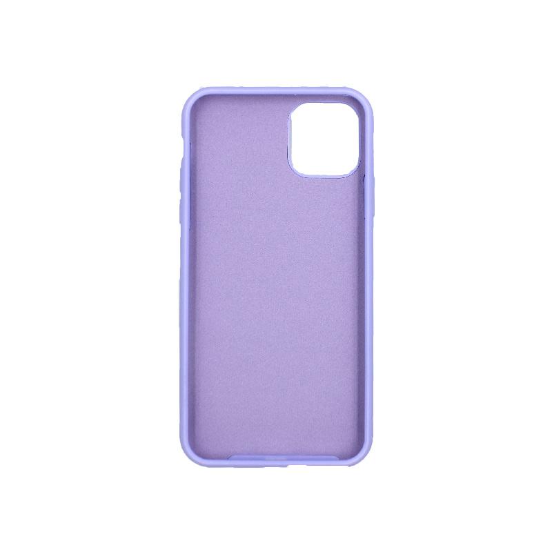 θήκη iPhone 11 pro max silky and soft touch σιλικόνη μοβ μπροστά