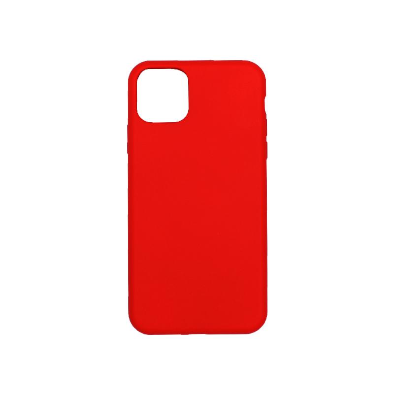θήκη iPhone 11 pro max silky and soft touch σιλικόνη κόκκινο πίσω