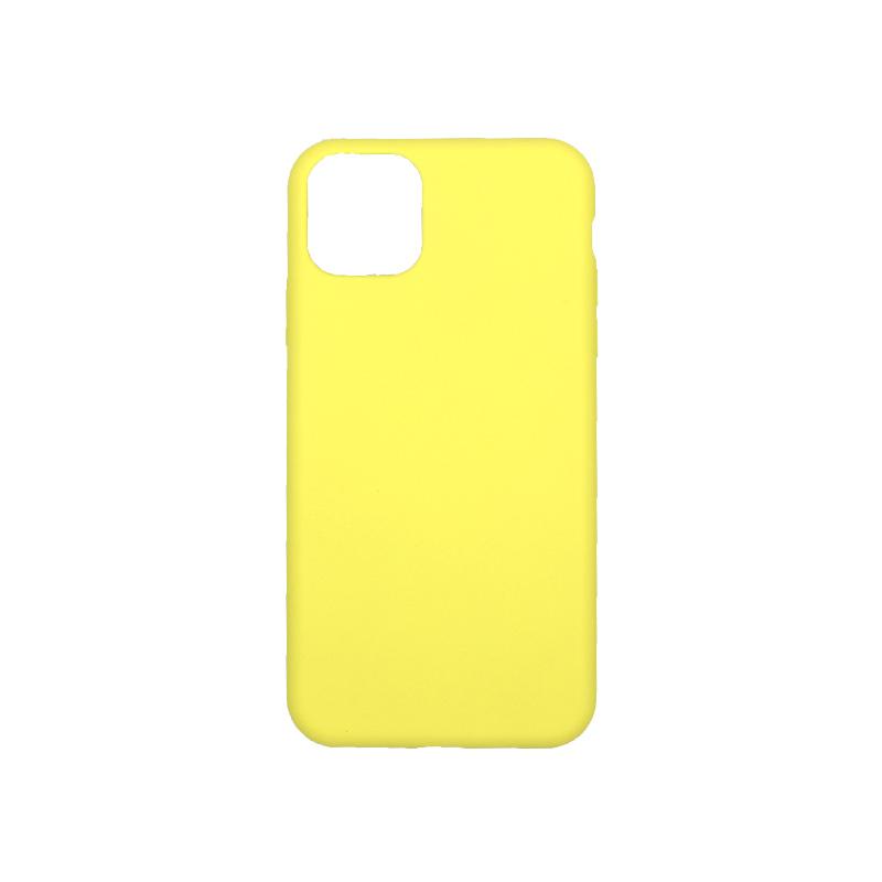 θήκη iPhone 11 pro max silky and soft touch σιλικόνη κίτρινο πίσω