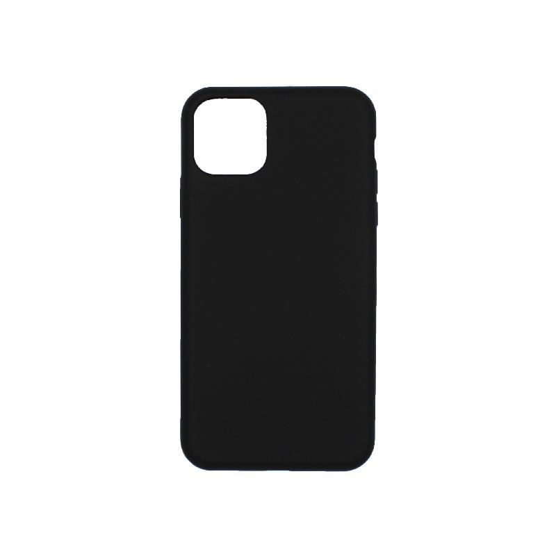 θήκη iPhone 11 pro max silky and soft touch σιλικόνη μαύρο πίσω