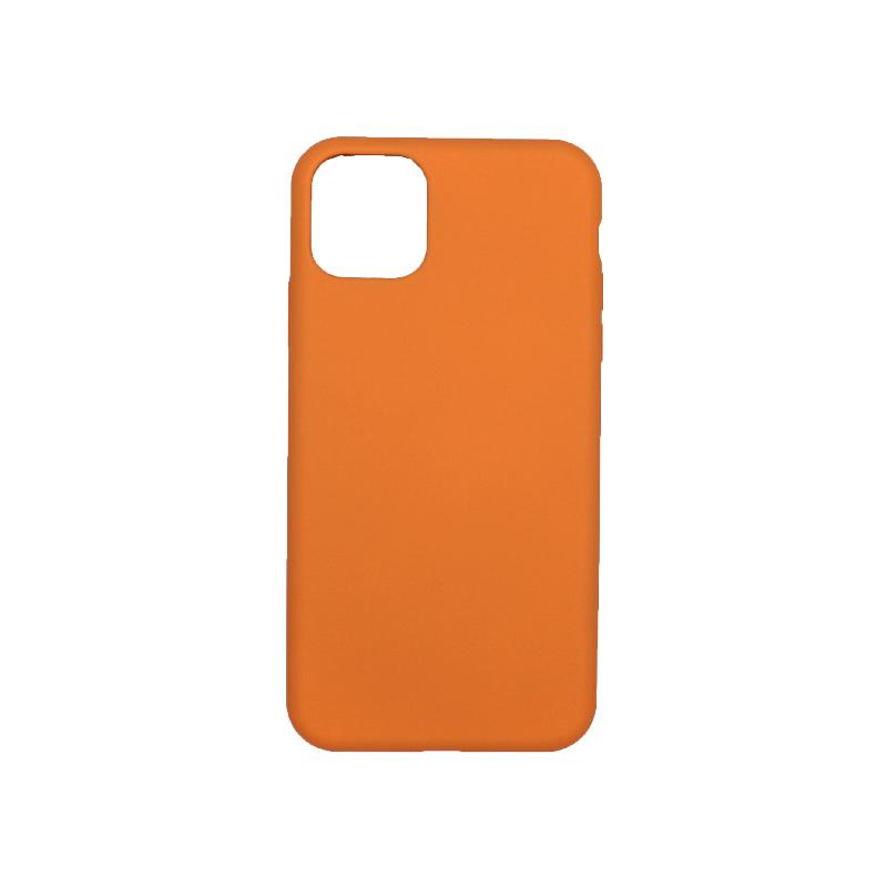 θήκη iPhone 11 pro max silky and soft touch σιλικόνη πορτοκαλί πίσω