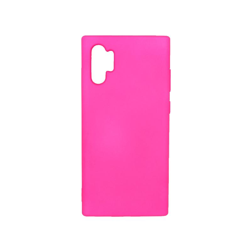 Θήκη Samsung Galaxy Note 10 Plus Silky and Soft Touch Silicone φουξ 1