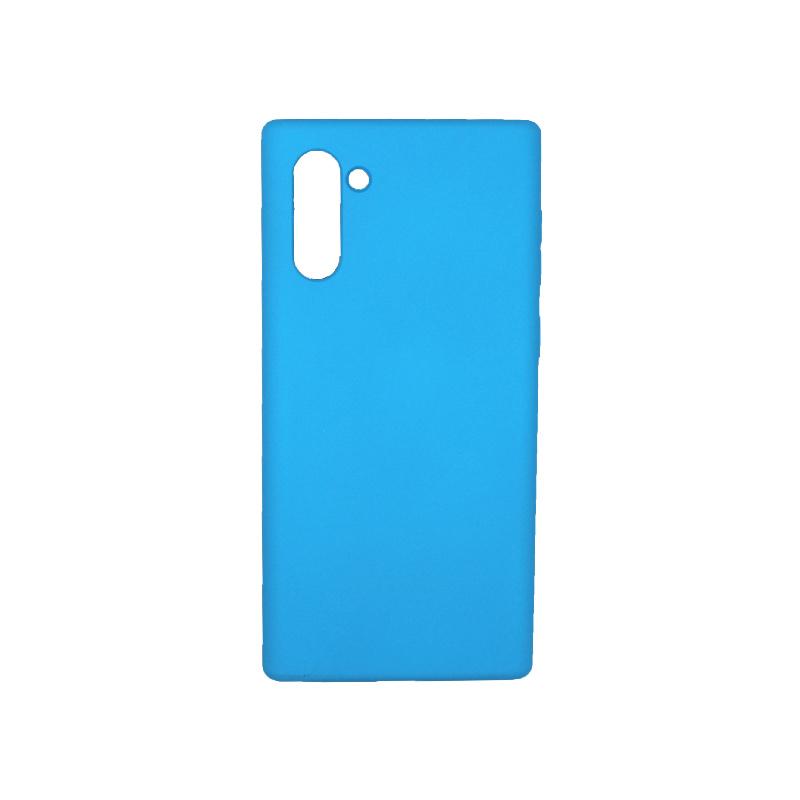 Θήκη Samsung Galaxy Note 10 Silky and Soft Touch Silicone γαλάζιο 1