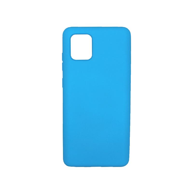 Θήκη Samsung Galaxy Note 10 Lite / A81 Silky and Soft Touch Silicone γαλάζιο 1