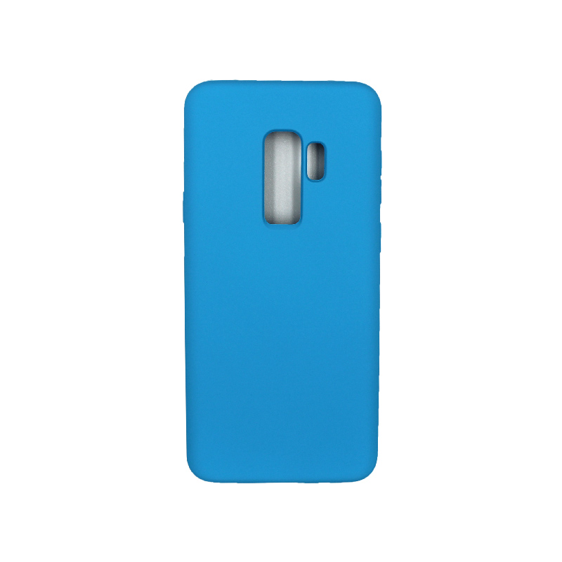 Θήκη Samsung Galaxy S9 Plus Silky and Soft Touch Silicone γαλάζιο 1
