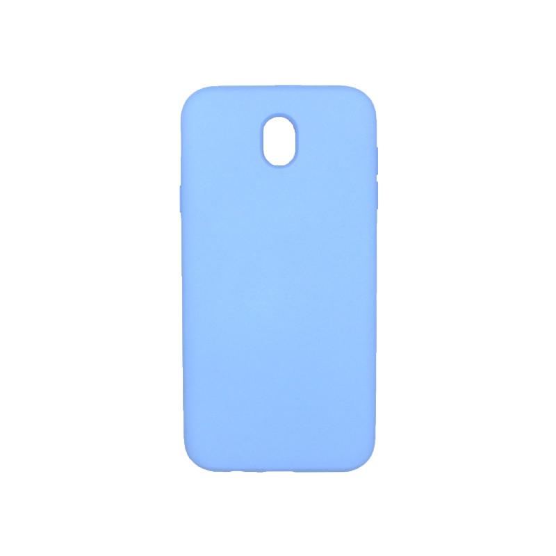 Θήκη Samsung Galaxy J7 2017 Silky and Soft Touch Silicone γαλάζιο 1