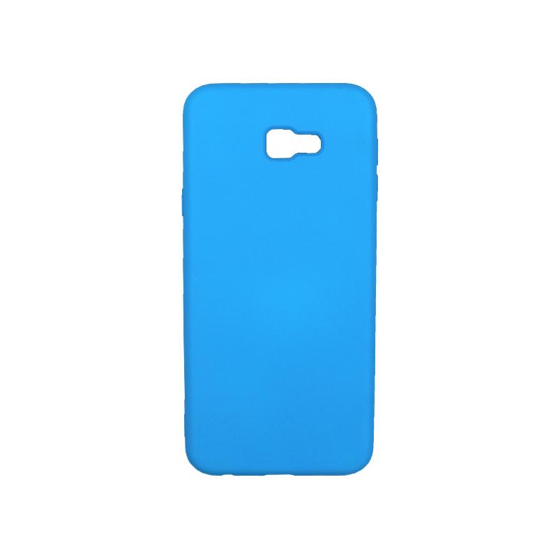 Θήκη Samsung Galaxy J4 Plus Silky and Soft Touch Silicone γαλάζιο 1
