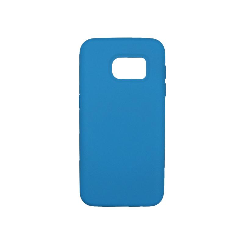 Θήκη Samsung Galaxy S7 Silky and Soft Touch Silicone γαλάζιο 1
