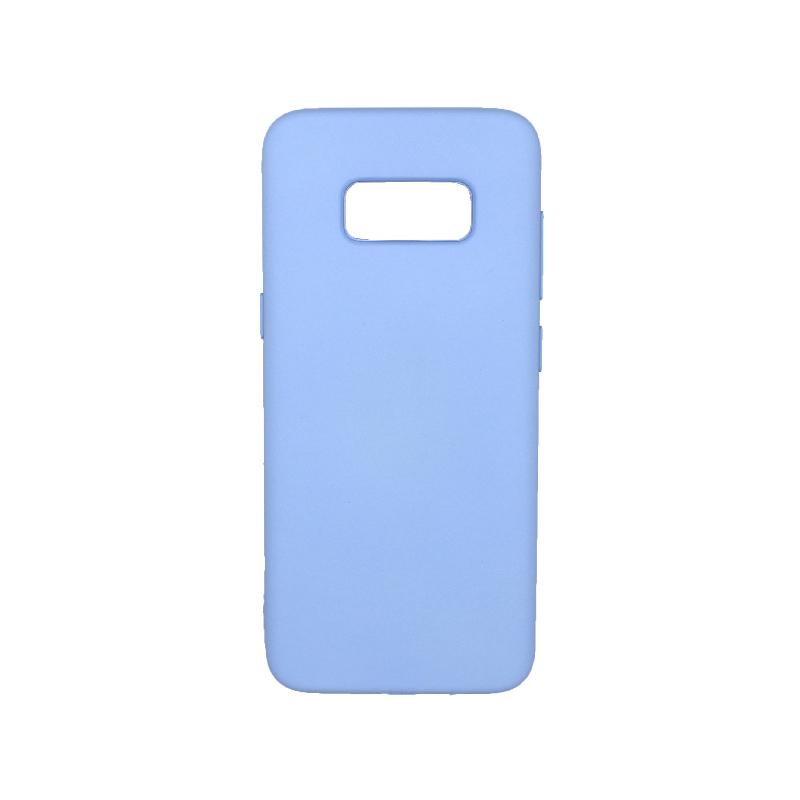 Θήκη Samsung Galaxy S8 Silky and Soft Touch Silicone γαλάζιο 1