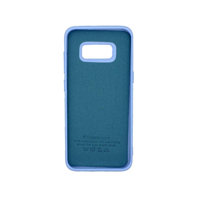 Θήκη Samsung Galaxy S8 Silky and Soft Touch Silicone γαλάζιο 2