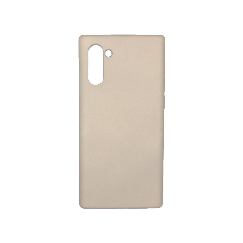 Θήκη Samsung Galaxy Note 10 Silky and Soft Touch Silicone γκρι 1