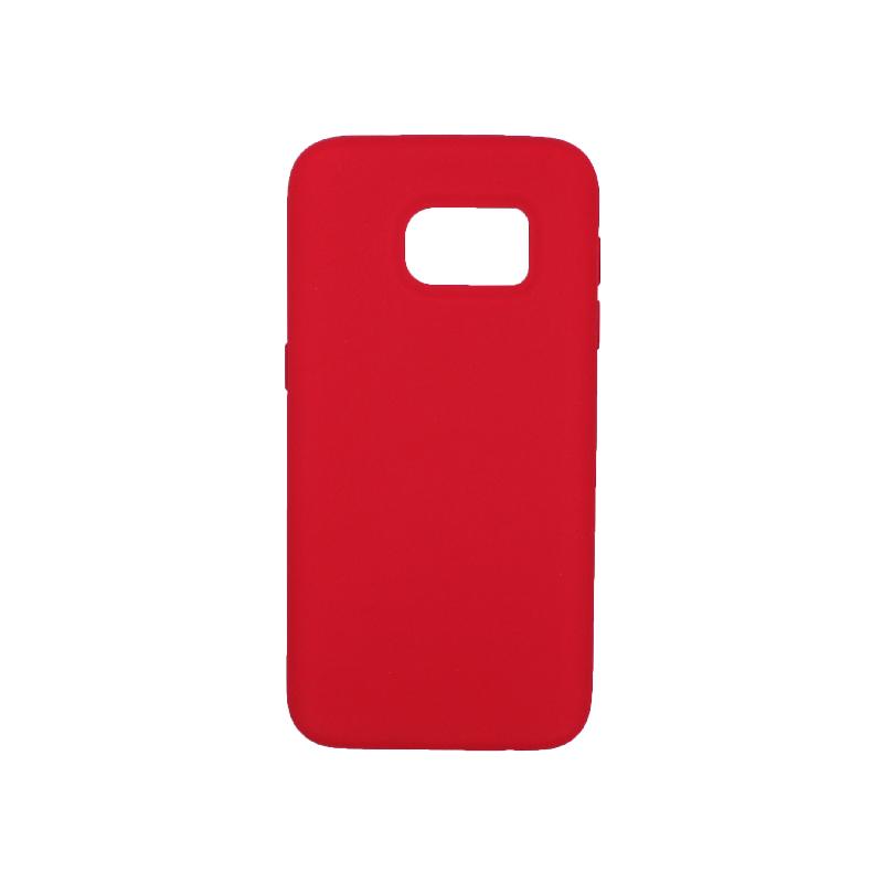 Θήκη Samsung Galaxy S7 Silky and Soft Touch Silicone σκούρο κόκκινο 1