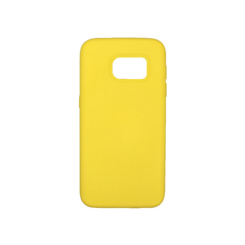 Θήκη Samsung Galaxy S7 Silky and Soft Touch Silicone κίτρινο 1