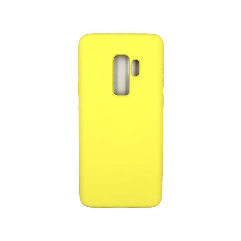 Θήκη Samsung Galaxy S9 Plus Silky and Soft Touch Silicone κίτρινο 1