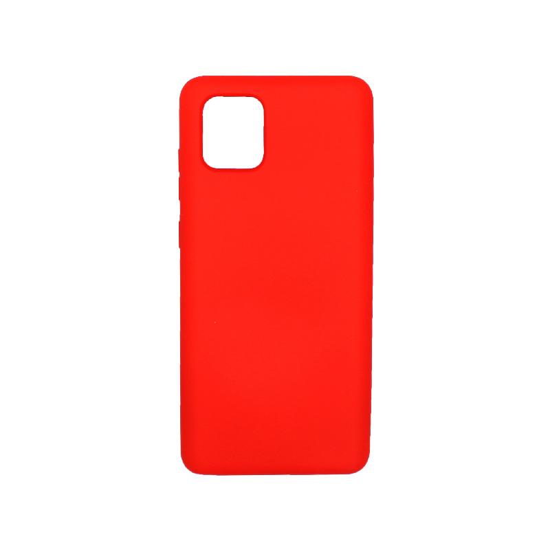 Θήκη Samsung Galaxy Note 10 Lite / A81 Silky and Soft Touch Silicone κόκκινο 1