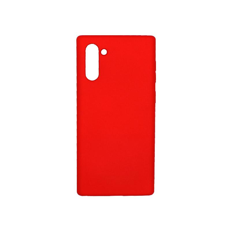 Θήκη Samsung Galaxy Note 10 Silky and Soft Touch Silicone κόκκινο 1
