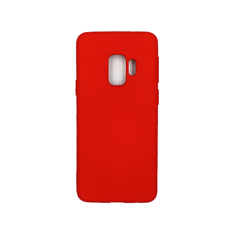 Θήκη Samsung Galaxy S9 Silky and Soft Touch Silicone κόκκινο 1