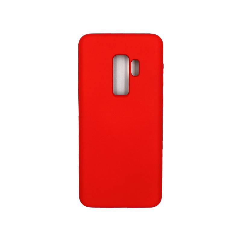 Θήκη Samsung Galaxy S9 Plus Silky and Soft Touch Silicone κόκκινο 1