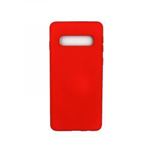 Θήκη Samsung Galaxy S10 Silky and Soft Touch Silicone κόκκινο 1