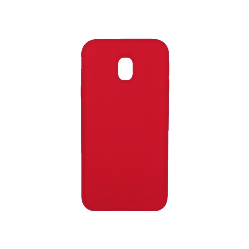 Θήκη Samsung Galaxy J3 2017 Plus Silky and Soft Touch Silicone κόκκινο 1