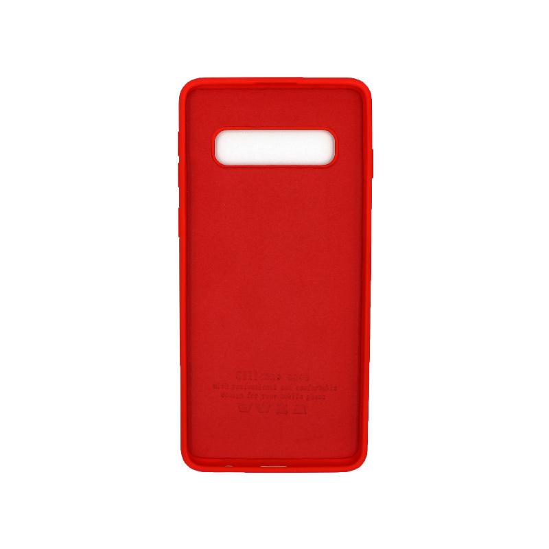 Θήκη Samsung Galaxy S10 Silky and Soft Touch Silicone κόκκινο 2