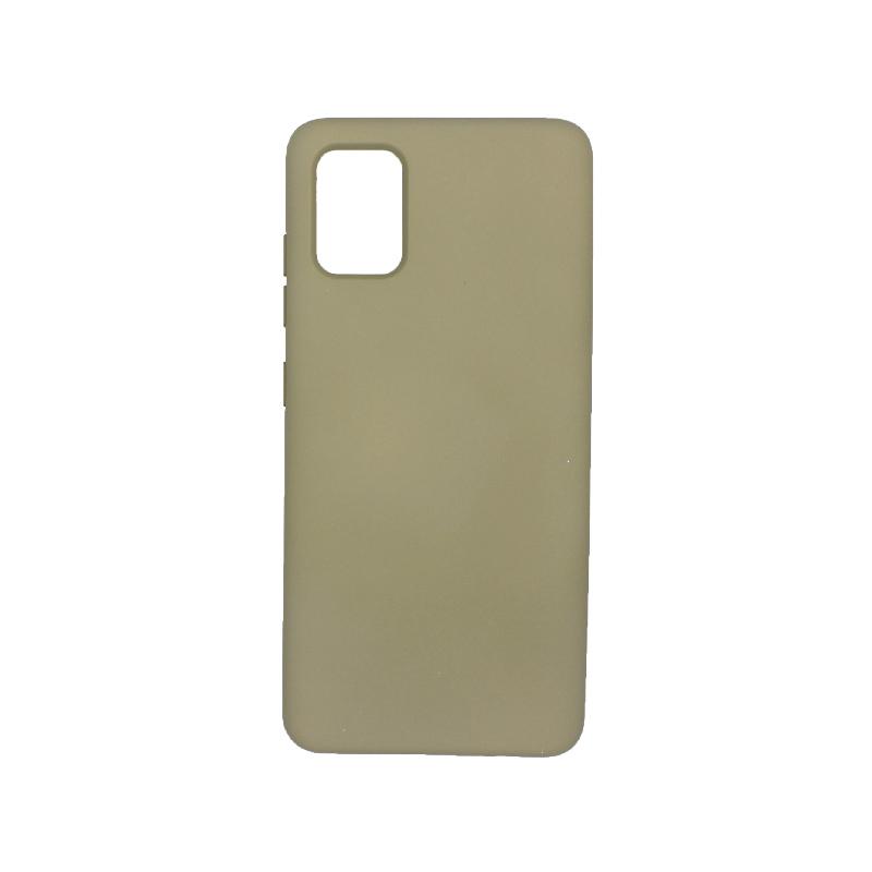 Θήκη Samsung A71 Silky and Soft Touch Silicone λαδί 1