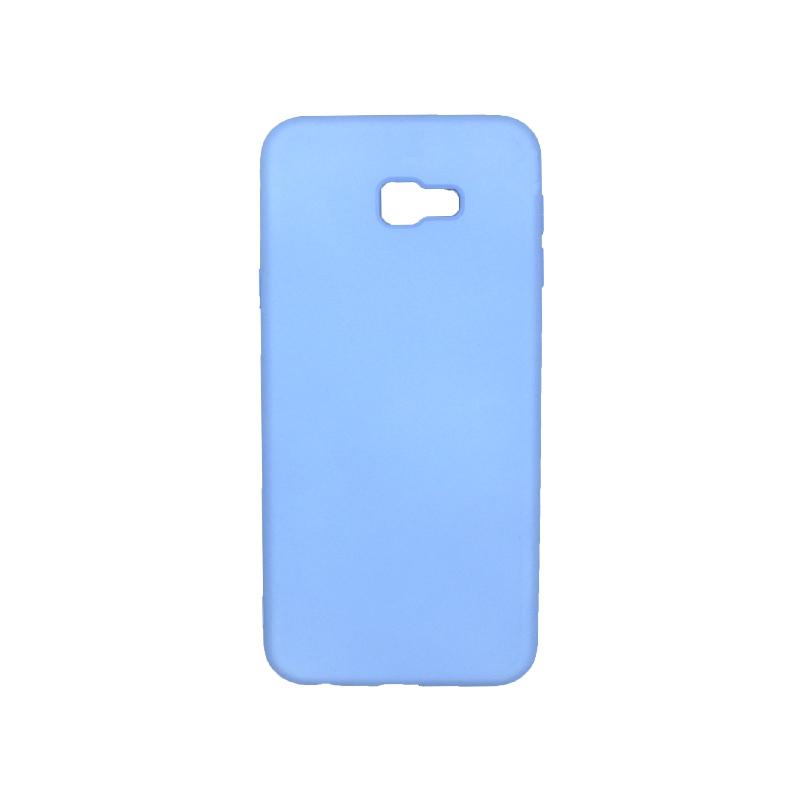 Θήκη Samsung Galaxy J4 Plus Silky and Soft Touch Silicone ανοιχτό γαλάζιο 1