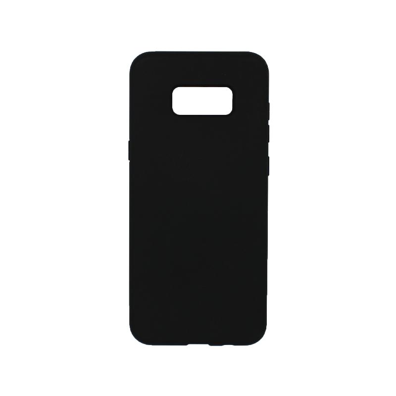 Θήκη Samsung Galaxy S8 Plus Silky and Soft Touch Silicone μαύρο 1