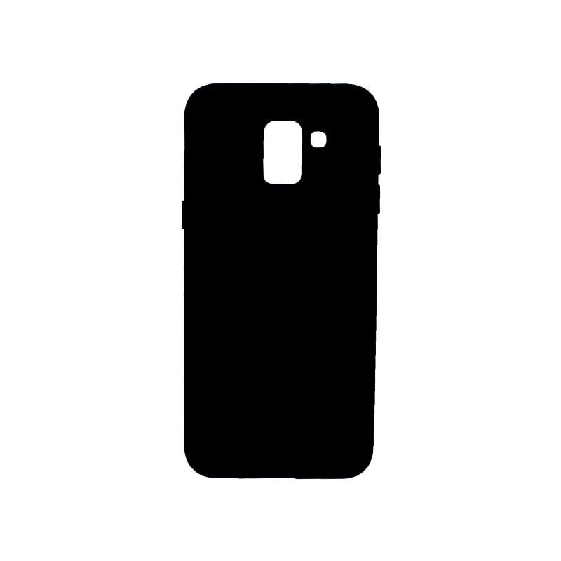 Θήκη Samsung Galaxy J6 Silky and Soft Touch Silicone μαύρο 1