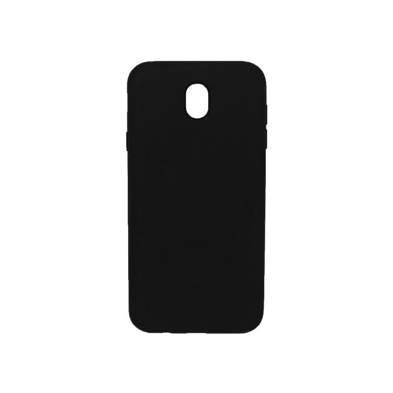 Θήκη Samsung Galaxy J7 2017 Silky and Soft Touch Silicone μαύρο 1