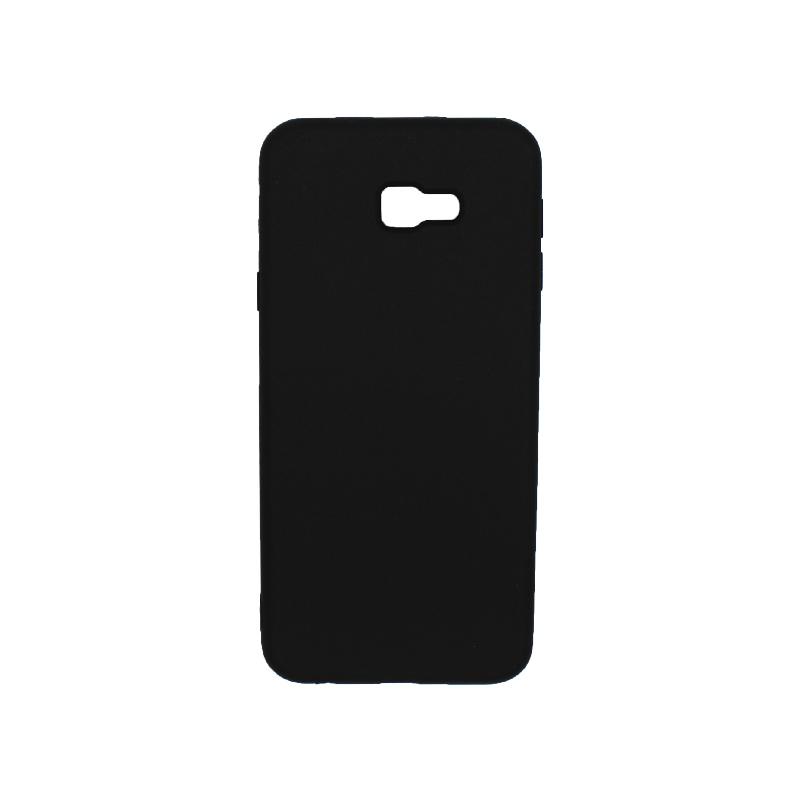 Θήκη Samsung Galaxy J4 Plus Silky and Soft Touch Silicone μαύρο 1