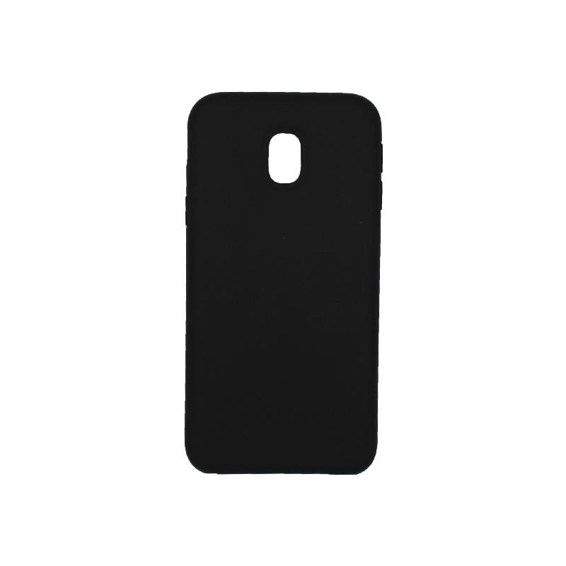 Θήκη Samsung Galaxy J3 2017 Plus Silky and Soft Touch Silicone μαύρο 1