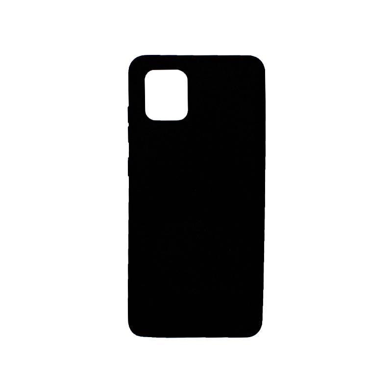 Θήκη Samsung Galaxy Note 10 Lite / A81 Silky and Soft Touch Silicone μαύρο 1