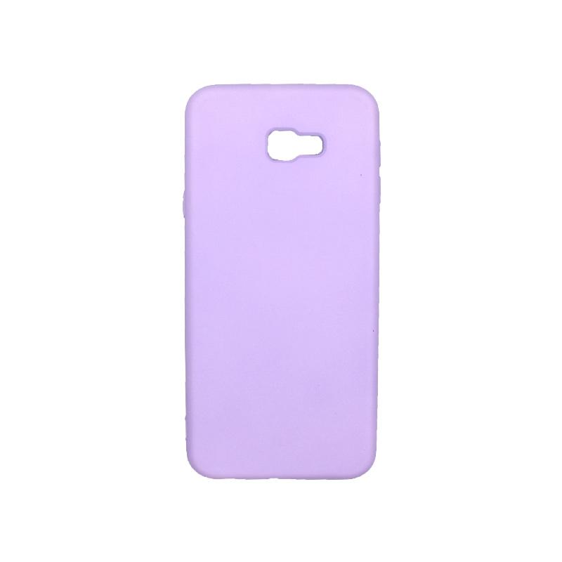 Θήκη Samsung Galaxy J4 Plus Silky and Soft Touch Silicone μωβ 1