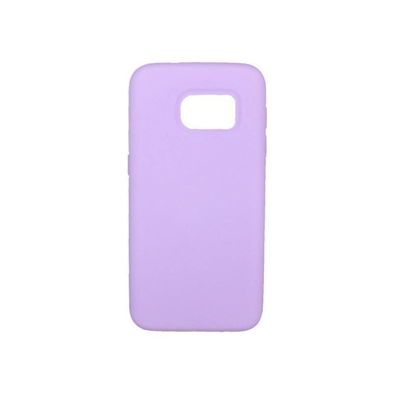 Θήκη Samsung Galaxy S7 Silky and Soft Touch Silicone μωβ 1