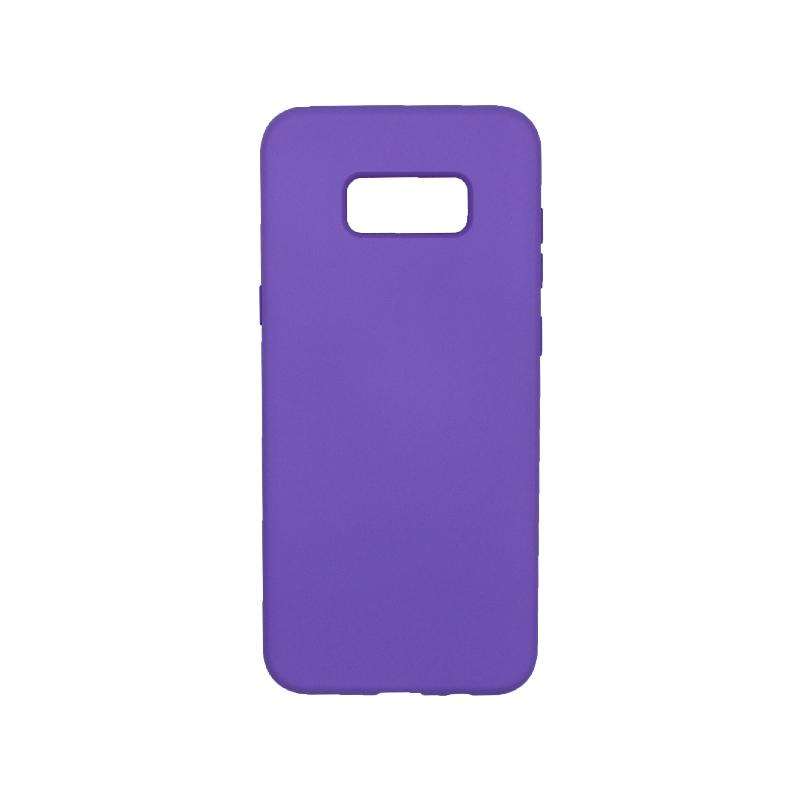 Θήκη Samsung Galaxy S8 Plus Silky and Soft Touch Silicone μωβ 1