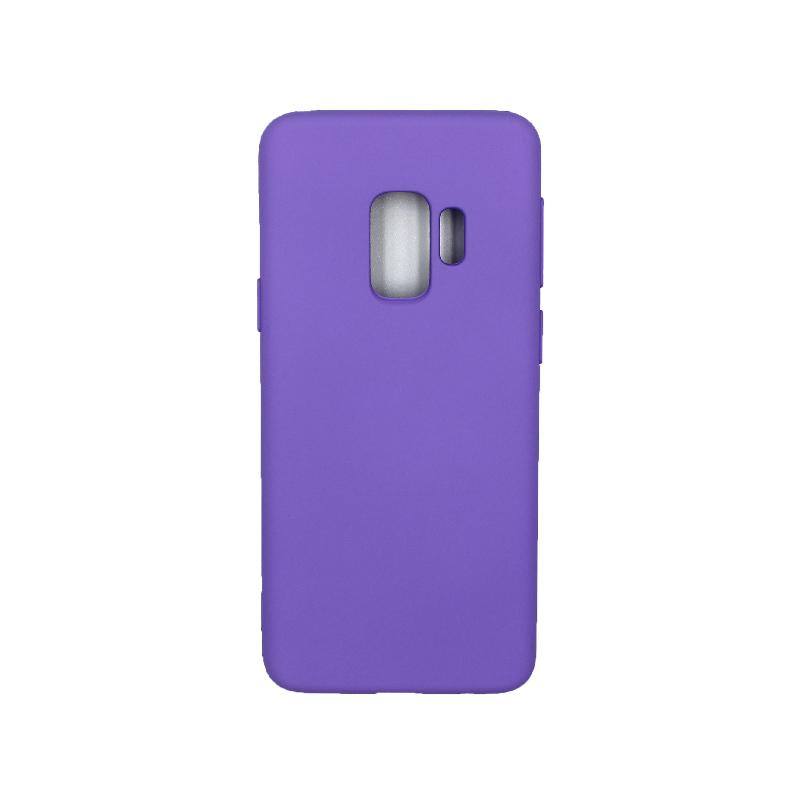 Θήκη Samsung Galaxy S9 Silky and Soft Touch Silicone μωβ 1