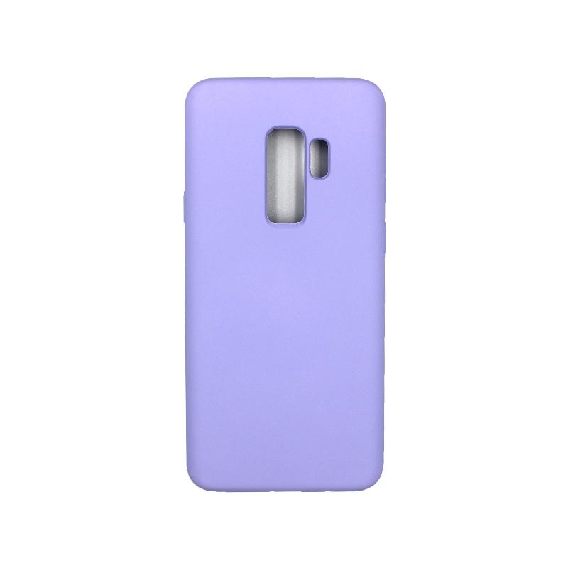 Θήκη Samsung Galaxy S9 Plus Silky and Soft Touch Silicone μωβ 1