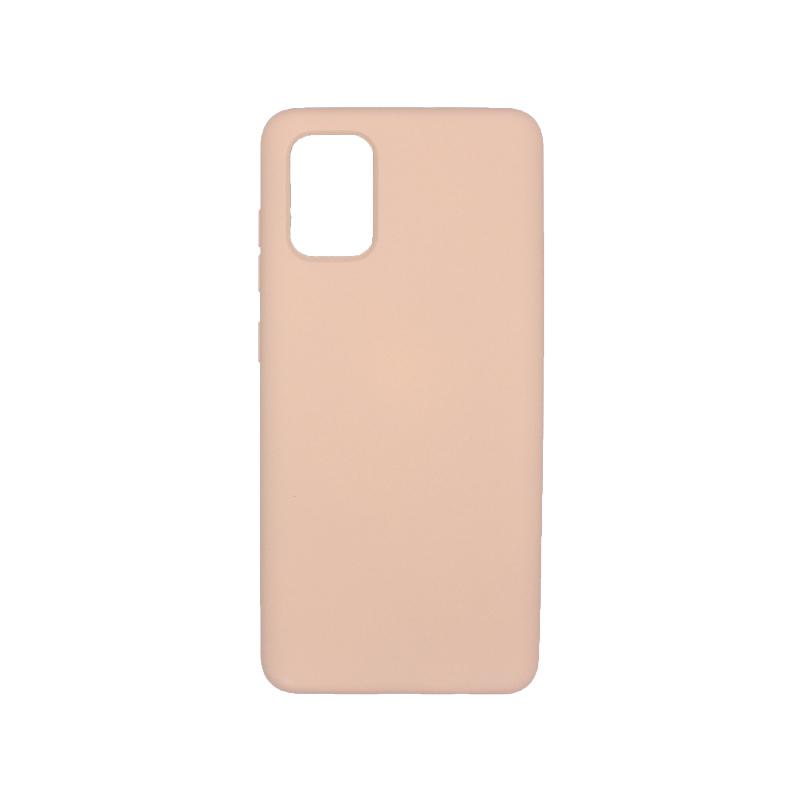 Θήκη Samsung A71 Silky and Soft Touch Silicone μπεζ 1