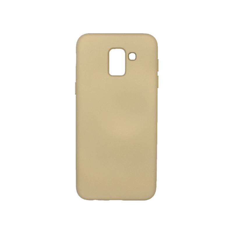 Θήκη Samsung Galaxy J6 Silky and Soft Touch Silicone μπεζ 1