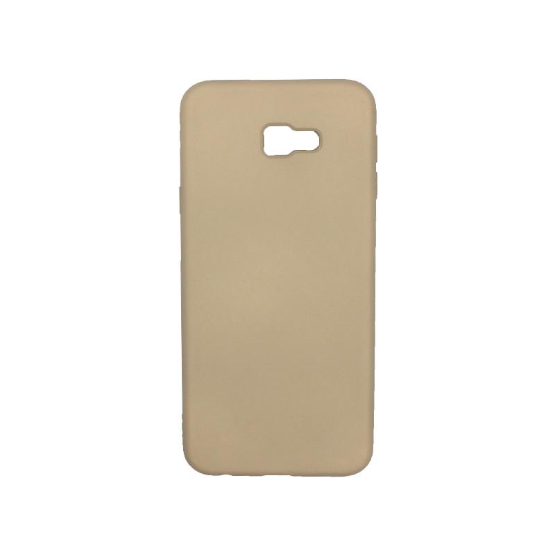 Θήκη Samsung Galaxy J4 Plus Silky and Soft Touch Silicone μπεζ 1