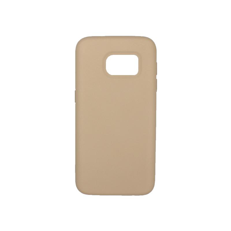 Θήκη Samsung Galaxy S7 Silky and Soft Touch Silicone μπεζ 1