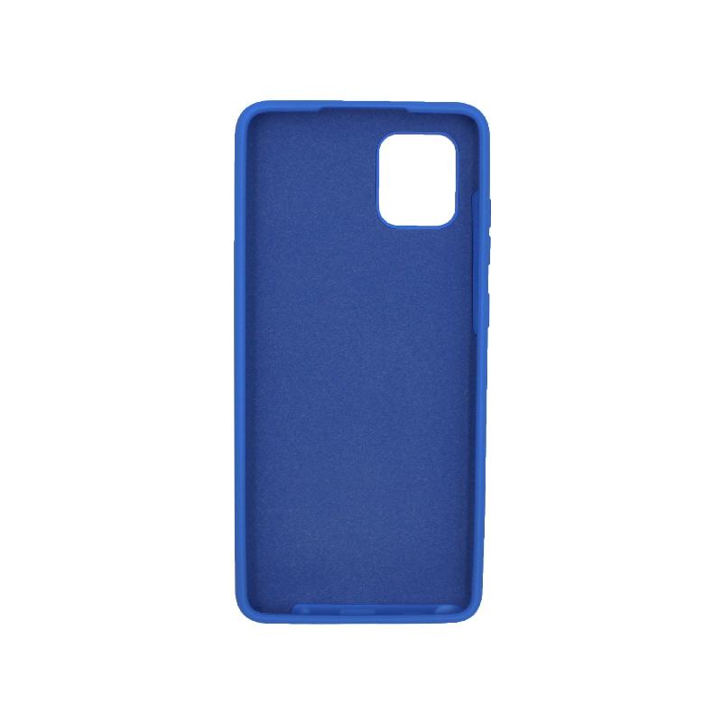 Θήκη Samsung Galaxy Note 10 Lite / A81 Silky and Soft Touch Silicone μπλε 2