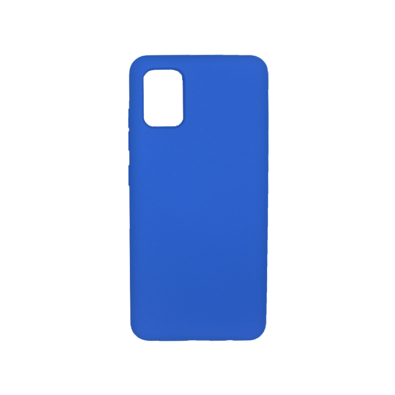 Θήκη Samsung A71 Silky and Soft Touch Silicone μπλε 1