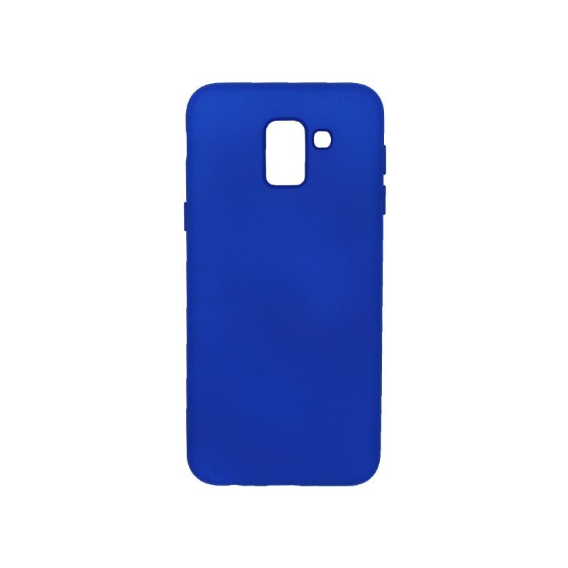 Θήκη Samsung Galaxy J6 Silky and Soft Touch Silicone μπλε 1