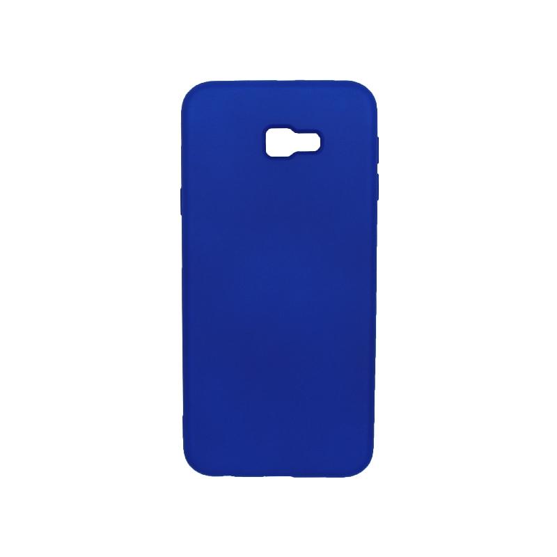 Θήκη Samsung Galaxy J4 Plus Silky and Soft Touch Silicone μπλε 1