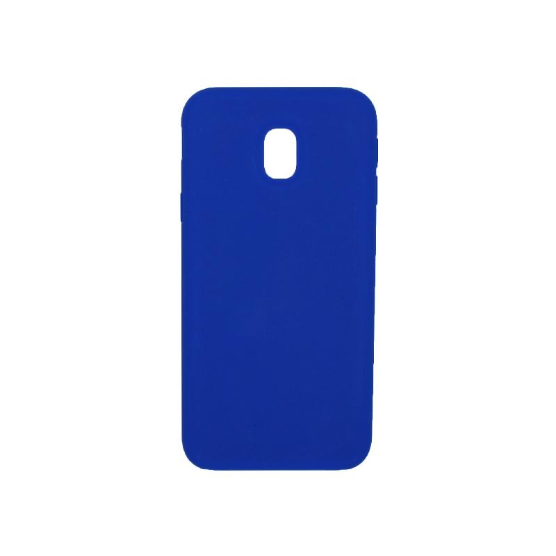 Θήκη Samsung Galaxy J3 2017 Plus Silky and Soft Touch Silicone μπλε 1