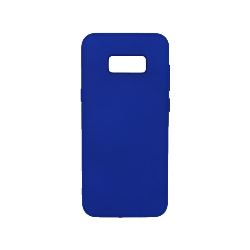 Θήκη Samsung Galaxy S8 Plus Silky and Soft Touch Silicone μπλε 1