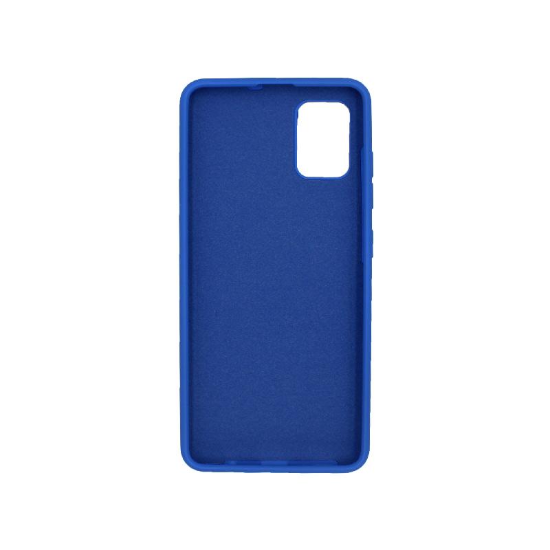 Θήκη Samsung A71 Silky and Soft Touch Silicone μπλε 2