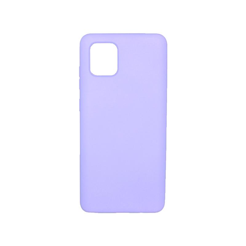 Θήκη Samsung Galaxy Note 10 Lite / A81 Silky and Soft Touch Silicone μωβ 1